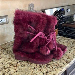 Colin Stuart fur boots